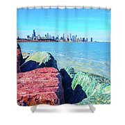 Vibrant Summer Vibes Shower Curtain