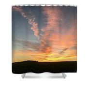 Vibrant Sunset Shower Curtain