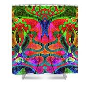 Vibrant Swirls Shower Curtain