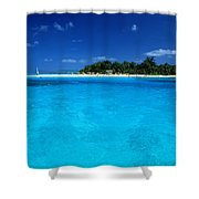 Vibrant Turquoise Waters Shower Curtain