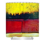 Vibrant Wall Colors Shower Curtain by Ray Laskowitz - Printscapes