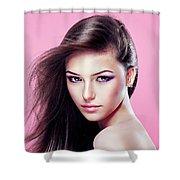 Vibrantc Cream Shower Curtain