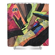 Vibrations Of Color Shower Curtain