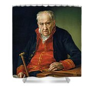 Vicente Portaia Lopez  Felix Maximo Lopez First Organist Of The Royal Chapel 1820 Shower Curtain