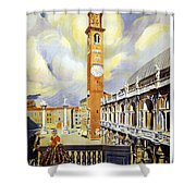 Vicenza Italy Travel Poster Shower Curtain