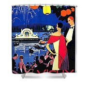 Vichy, Firework At Celebration Night Shower Curtain