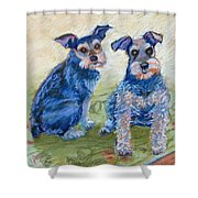 Vickie's Pups Shower Curtain