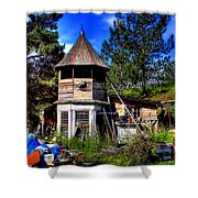 Vic's Shed Shower Curtain
