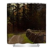 Victor Coleman Anderson  1882  1937 Road By The Woods Shower Curtain