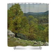 Victor Coleman Anderson  1882  1937  Rocky Uplands 1921 Shower Curtain