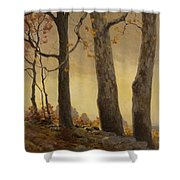 Victor Coleman Anderson 1882  1937 Wet Leaves Shower Curtain