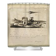 Victor Hugo   Landscape   1837 Shower Curtain
