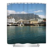 Victoria And Alfred Waterfront Shower Curtain by Oliver Johnston