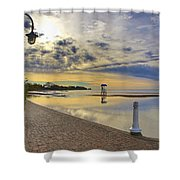 Victoria Beach Early Morning  Shower Curtain