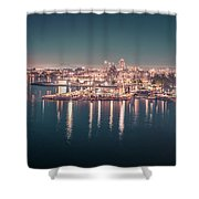 Victoria British Columbia City Lights View From Cruise Ship Shower Curtain