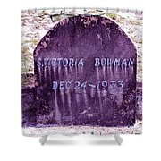 Victoria Eternal Sleep Shower Curtain