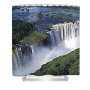 Victoria Falls Rainbow Shower Curtain by Sandra Bronstein