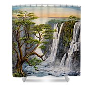 Victoria Falls Zimbabwe  Shower Curtain