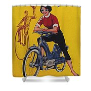Victoria Vicky Iv - Motorcycle - Vintage Advertising Poster Shower Curtain