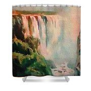 Victoria Waterfalls L B Shower Curtain