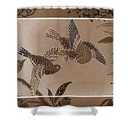 Victorian Birds In Sepia Shower Curtain