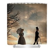 Victorian Couple Parting  Shower Curtain