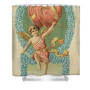Victorian Cupid Shower Curtain
