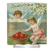 Victorian Era Valentine Card Shower Curtain