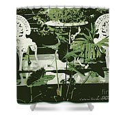 Victorian Garden Poster Shower Curtain