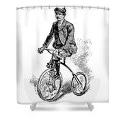 Victorian Gentleman Cycling Shower Curtain