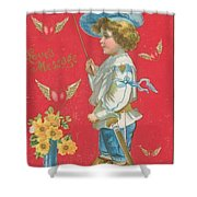 Victorian Valentine Shower Curtain