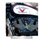 Victory Bike Red Shower Curtain