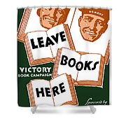 Victory Book Campaign - Wpa Shower Curtain