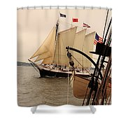 Victory Chimes Along Side Shower Curtain