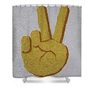 #victory Hand Emoji Shower Curtain