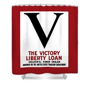 Victory Liberty Loan Industrial Honor Emblem Shower Curtain