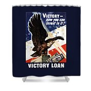 Victory Loan Bald Eagle Shower Curtain
