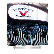 Victory Red Sq Shower Curtain