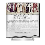Victrola Advertisement Shower Curtain