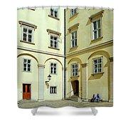Vienna Courtyard Chat Shower Curtain