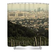 Vienna From The Hills Shower Curtain