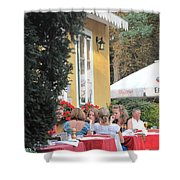 Vienna Restaurant In The Park Shower Curtain