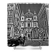 Vienna Scene Shower Curtain by Madeline Ellis