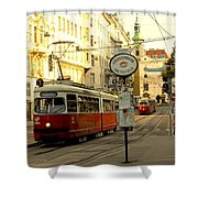 Vienna Streetcar Shower Curtain