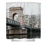 Vienne, France Shower Curtain