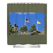 Vietnam Memorial Angel Fire New Mexico Shower Curtain