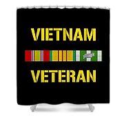 Vietnam Veteran Ribbon Bar  Shower Curtain