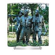 Vietnam War Memorial Statue Shower Curtain