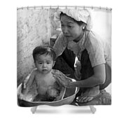 Vietnamese Orphan Bathing Shower Curtain