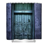 Vieux Carre' Doorway At Night Shower Curtain
